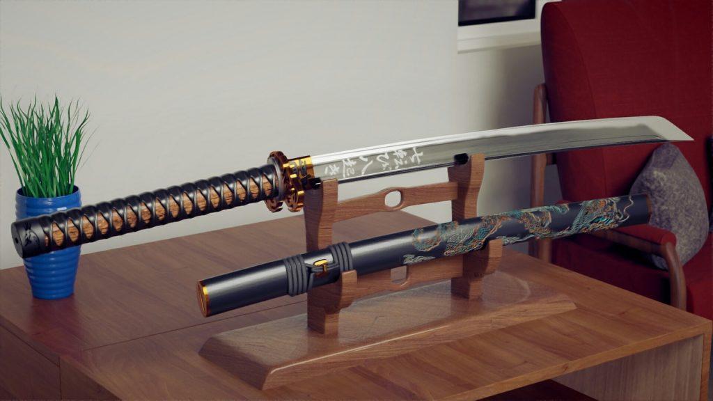 köp japanskt katana svärd